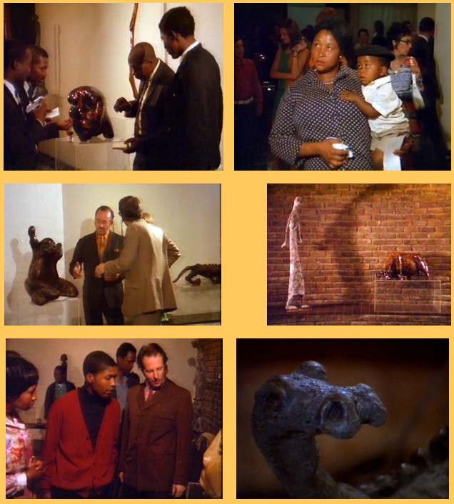 Lucas SITHOLE opening scene at Gallery 101, Johannesburg, October 1970 - stills from Richard Harvey's documentary